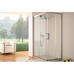 Corner shower screen